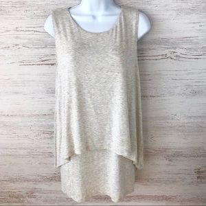 BANANA REPUBLIC Layered Tee Shirt Mini Dress/Tunic